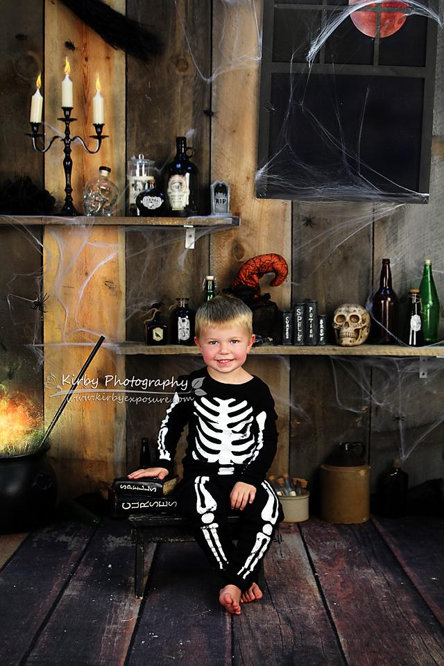 Kate Bunch of Hocus Pocus Halloween Backdrop designed by Arica Kirby - Kate backdrops UK