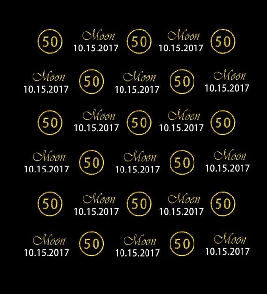 Kate 50th Birthday Gold backdrop Custom Step and Repeat Black for Party