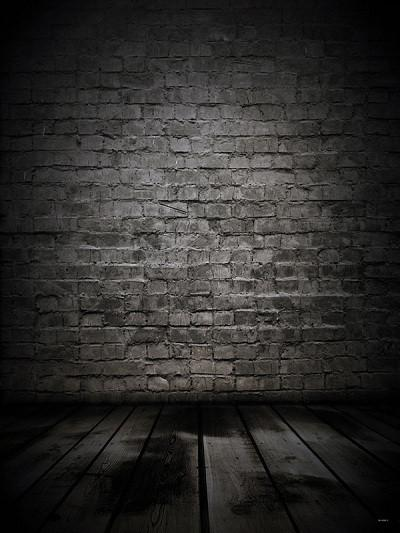 Kate Black Brick Wall With Floor Backdrops For Photography - Kate backdrops UK