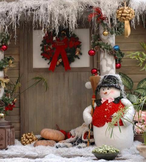 Katebackdrop:Kate Outdoor Christmas backdrop Snowman for Photography