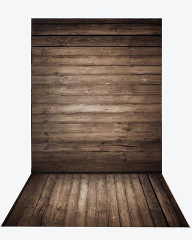 Katebackdrop:Kate Dark wood backdrop + wood floor mat