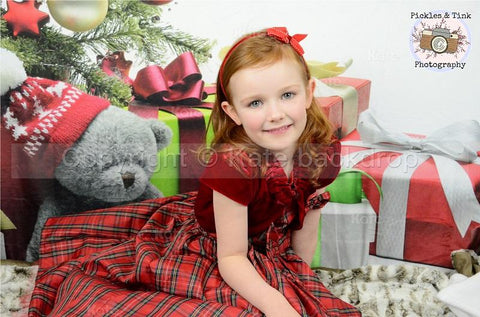 Katebackdrop:Kate Holiday Children Christmas Tree Backdrop Gift Box For Photography