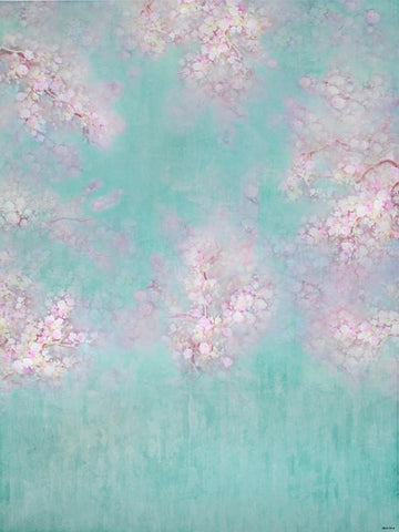 Kate Abstract Green Spring Floral Backdrop For Photography - Kate backdrops UK