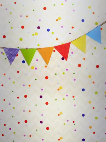 Kate Birthday Colorful Flags Small Points Photography Backdrop - Kate backdrops UK