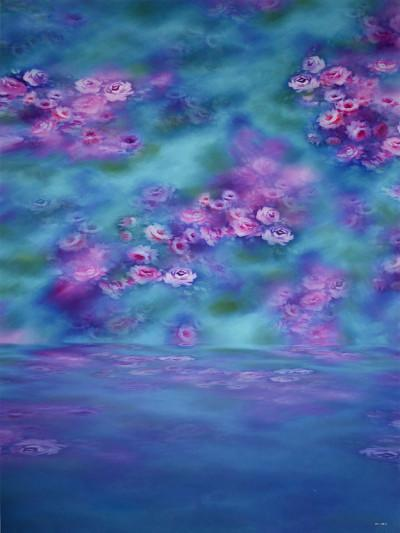 Load image into Gallery viewer, Kate Children Blue With Purple Flowers Backdrop - Kate backdrops UK