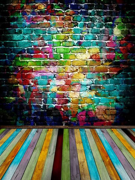 Kate Colorful Graffiti Brick and Floor Backdrop for Photography