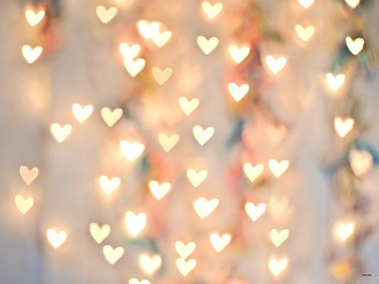 Kate Bright Light Pink Love Heart Valentine's Day Backdrops for Children Photography