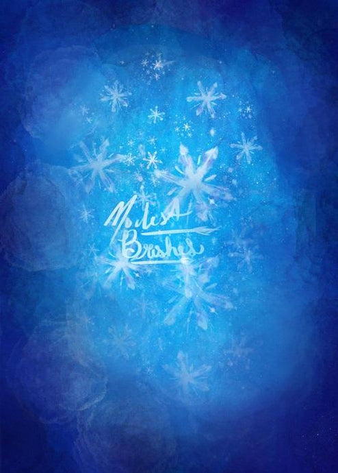 Kate Blue Frozen Backdrop for Photography Designed by Modest Brushes