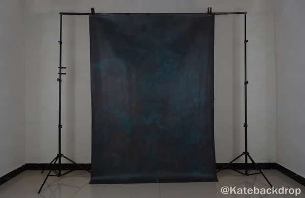Kate Tirquise Color Abstract Texture Dark Spray Painted Backdrop