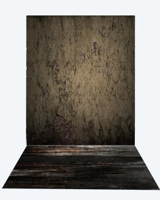 Kate Abstract Wall Fabric Backdrop for Photographer+ Dark Wood Rubber Floor Mat for Photo - Kate backdrops UK