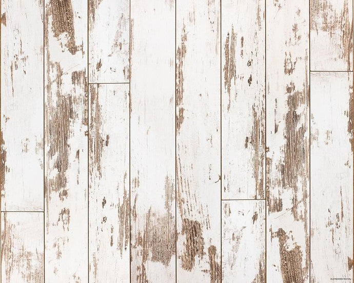 Kate Vintage White Distressed Wood Rubber Floor Mat for Newborn Baby - Kate backdrops UK