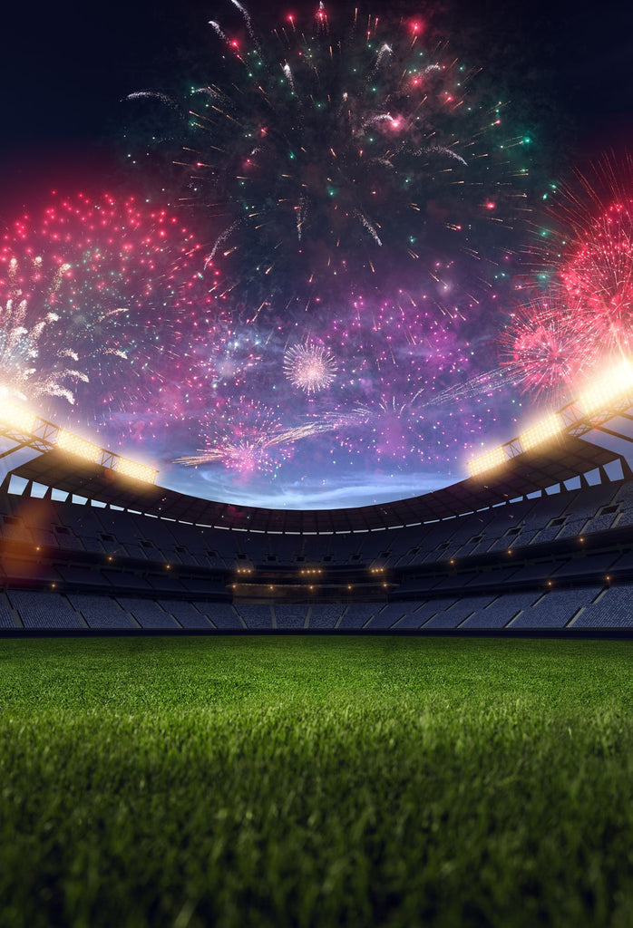 Kate Sports Soccer field background fireworks World Cup Super Bowl Photo