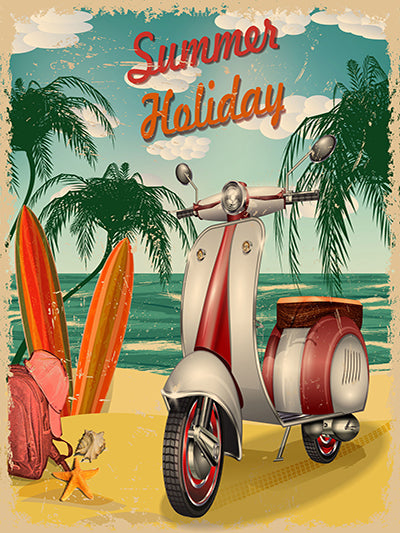 Kate Summer Vacation Beach Vintage Poster Photography Backdrop