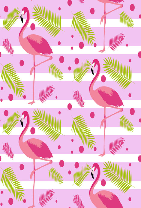 Kate Pink and White Stripes Flamingos Backdrop for Photography