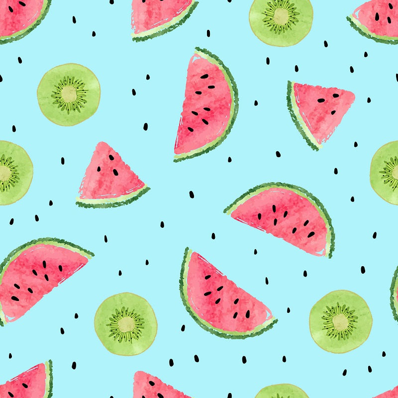 Kate Summer Watermelon and Kiwi Backdrop for Photography