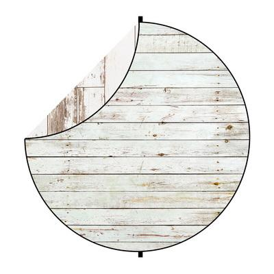 Kate Abstract White Wood Round Mixed Collapsible Backdrop for Baby Photography 5X5ft(1.5x1.5m)