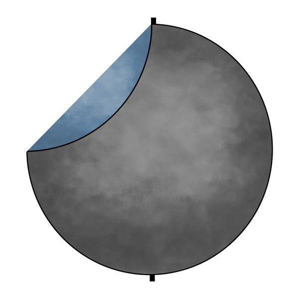 Kate Grey/Blue Abstract Round Collapsible Backdrop for Baby Photography 5X5ft(1.5x1.5m)