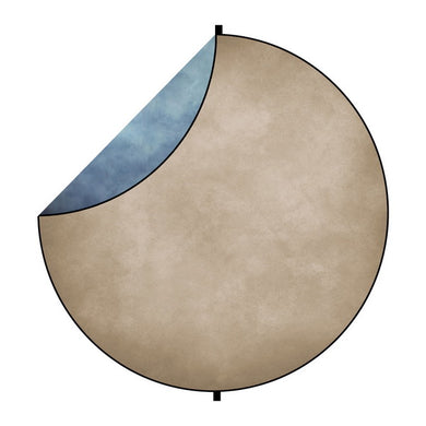 Kate Light Blue/Brown Tone Abstract Mixed Round Collapsible Backdrop for Baby Photography 5X5ft(1.5x1.5m)