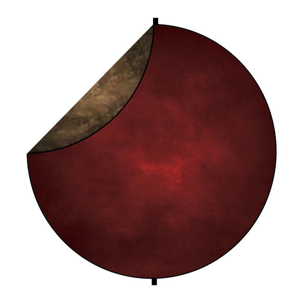 Kate Red/Brown Tone Abstract Mixed Round Collapsible Backdrop for Baby Photography 5X5ft(1.5x1.5m)