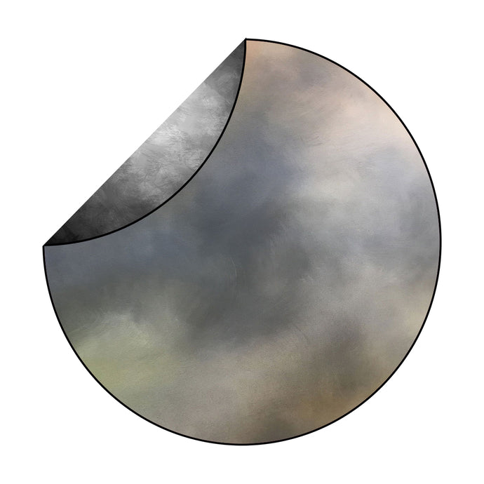 Kate Grey/Fine Art Abstract Mixed Round Collapsible Backdrop for Baby Photography 5X5ft(1.5x1.5m)