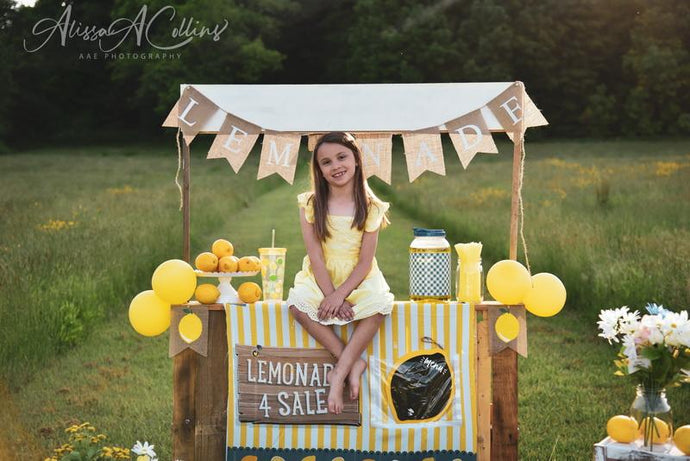 Kate Summer Backdrop Lemonade Stand Designed by AAE Photography