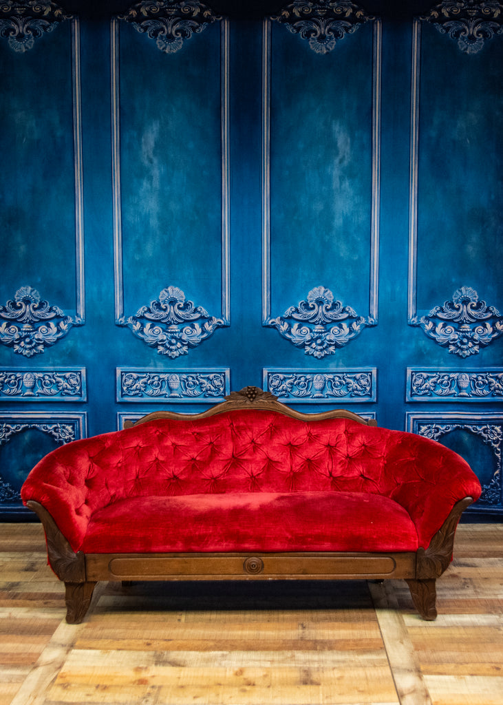 Kate Bule Wall and Red Sofa Designed by Thousand Words Photography
