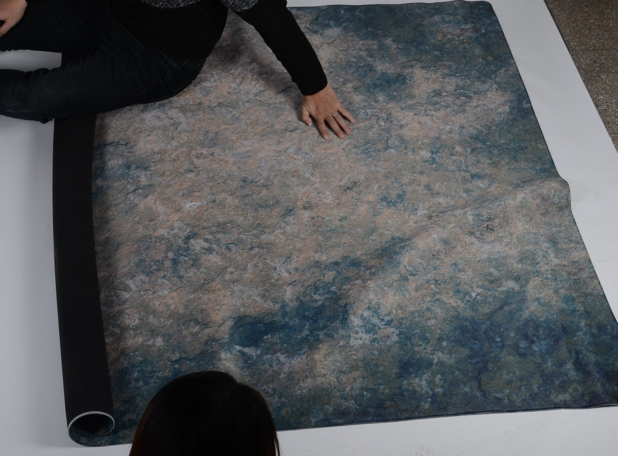 Load image into Gallery viewer, 5x8ft(1.5x2.5m) Texture Color floor mat Rubber floor Mat - Kate backdrops UK