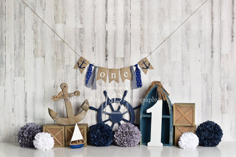 Kate Rudder Anchor Sailor Children Backdrop for Summer cake smash Designed by Mandy Ringe Photography