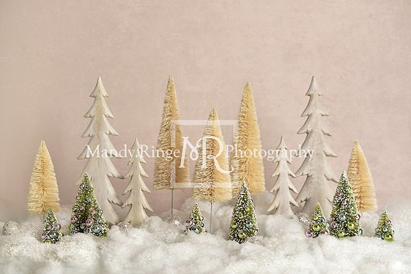 Elegant Christmas Trees Backdrop