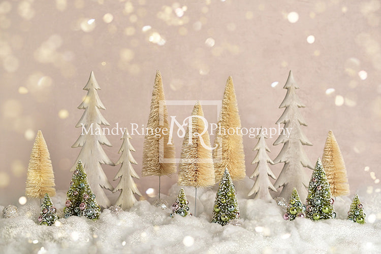 Elegant Christmas Trees with Glitter