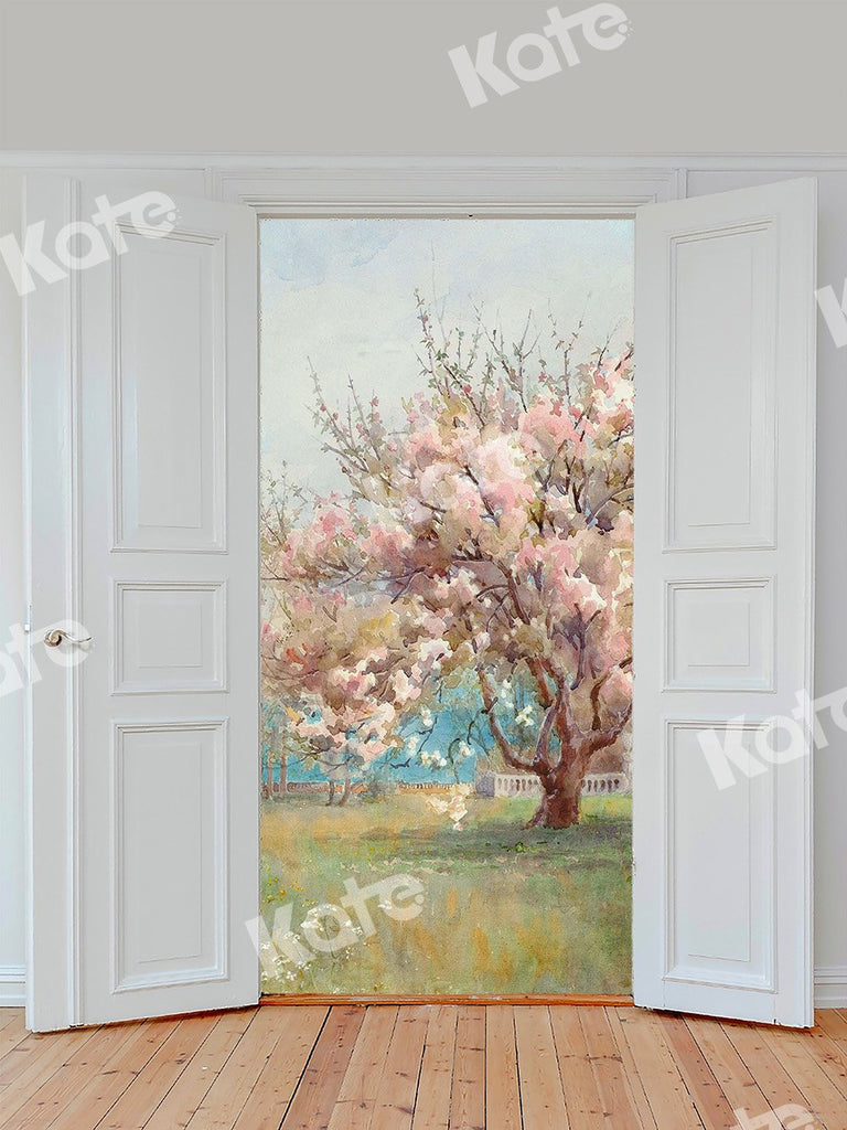 Kate Door With Flower Tree Backdrop Designed by Chain Photography