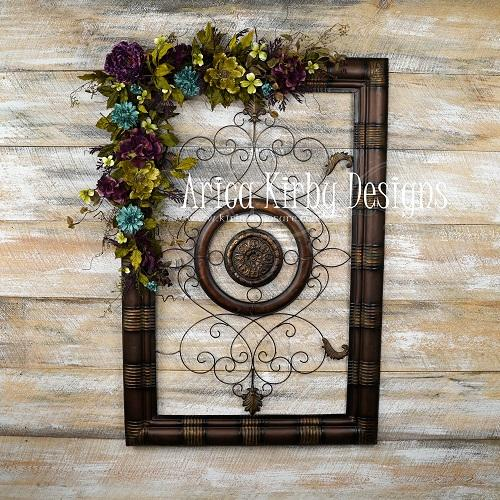 Kate Floral Iron Gate backdrop designed by Arica Kirby