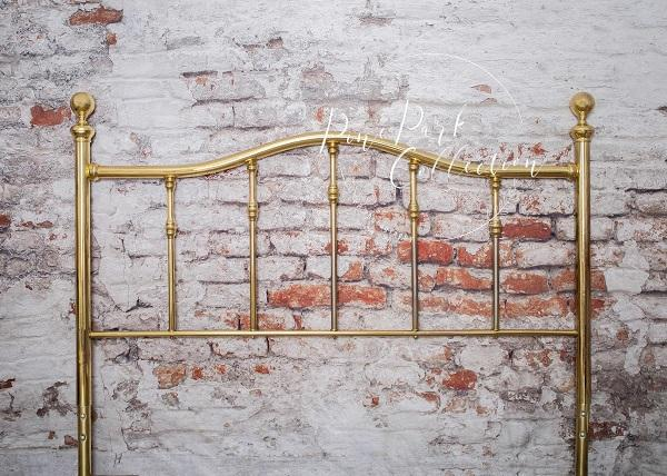 Headboard Full Brass Bed Backdrop
