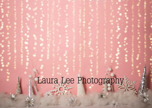 Girly Winter Wonderland Pink Backdrop