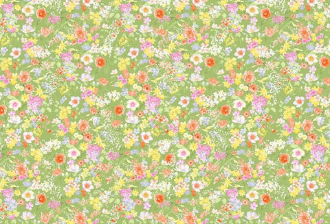 Kate Retro flowers Baby Shower Backdrop for Photography designed by Jerry_Sina