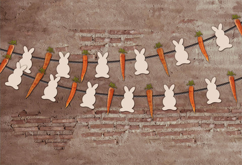 Kate Rabbits Carrots Backdrop for Photography designed by Jerry_Sina