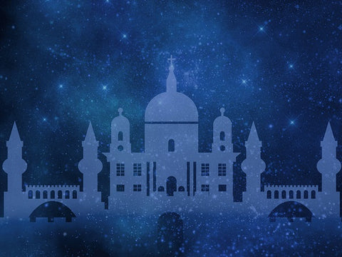Kate Arabian Castle Starry Sky Backdrop for Children Photography Designed By Jerry_Sina