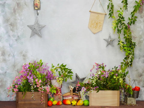 Welcome Spring Floral Backdrop