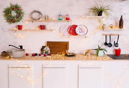 Christmas Kitchen Room Backdrop