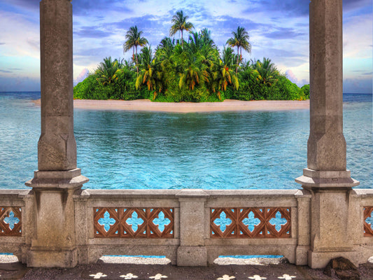 Load image into Gallery viewer, Kate Retro Building Island Backdrop for Summer Photography