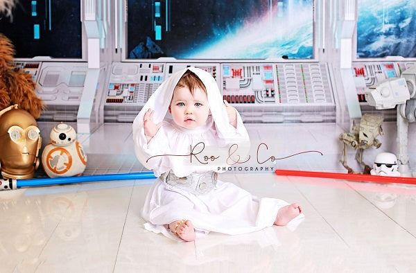 Load image into Gallery viewer, Kate Outer Space Pod Universe Backdrop for Children Photography