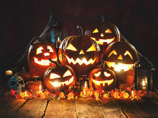 Kate Halloween Backdrop pumpkin lantern Photo Props - Kate backdrop UK