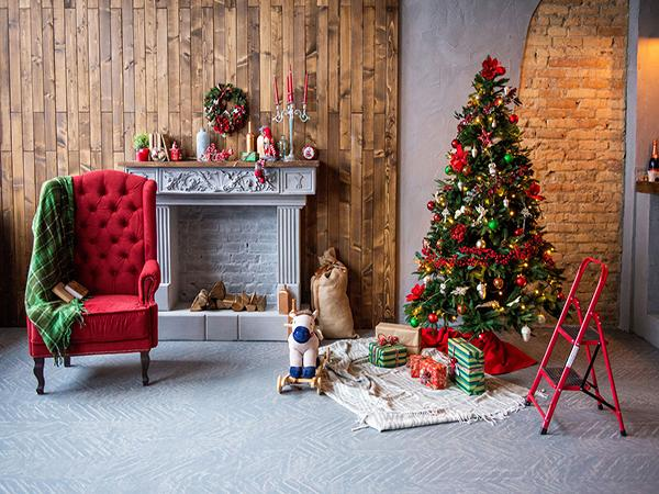 Kate Indoor Photo Tree Fireplace Backdrop For Christmas Photography - Kate backdrop UK