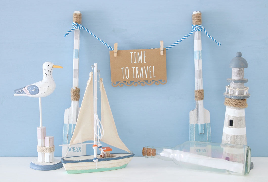 Kate Time to Travel Backdrop for Children Photography