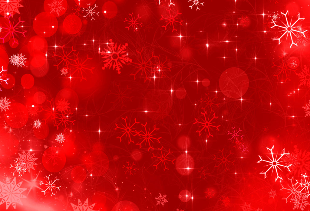 Kate Christmas Red Snowflake Backdrops For Photography