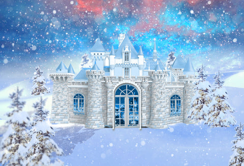 Kate Snowflake Castle Backdrop for Photography