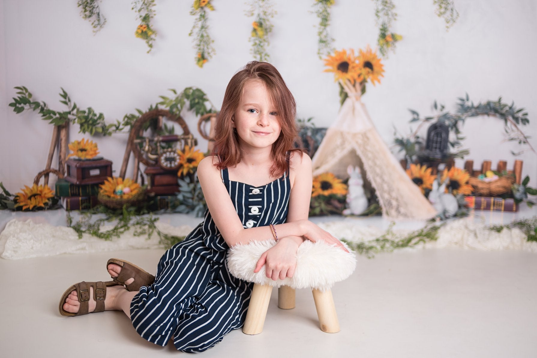 Load image into Gallery viewer, Kate Spring Sunflowers with Tent Backdrop Designed by Jia Chan Photography