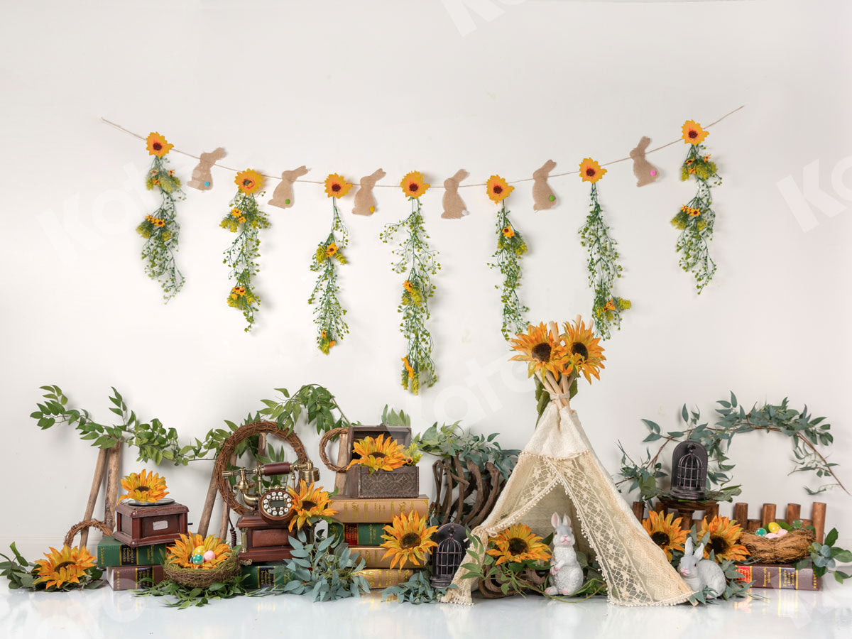 Load image into Gallery viewer, Summer Sunflowers with Tent Backdrop