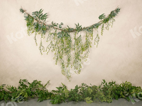 Kate Spring Green Leave Backdrop Designed by Jia Chan Photography