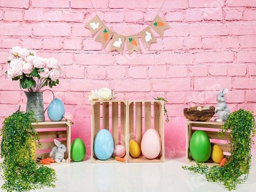Spring/Easter Pink Wall Backdrop